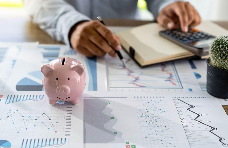 man managing his business finances
