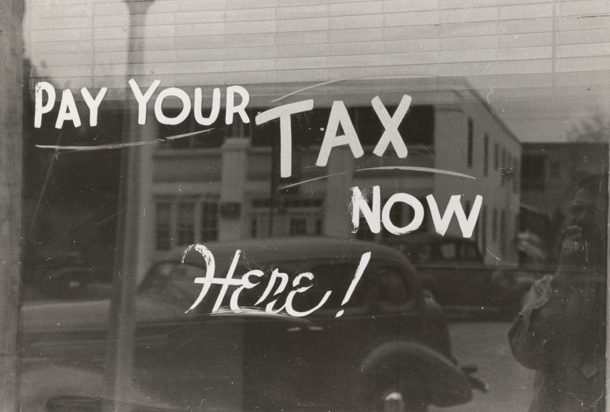 tax notice on window