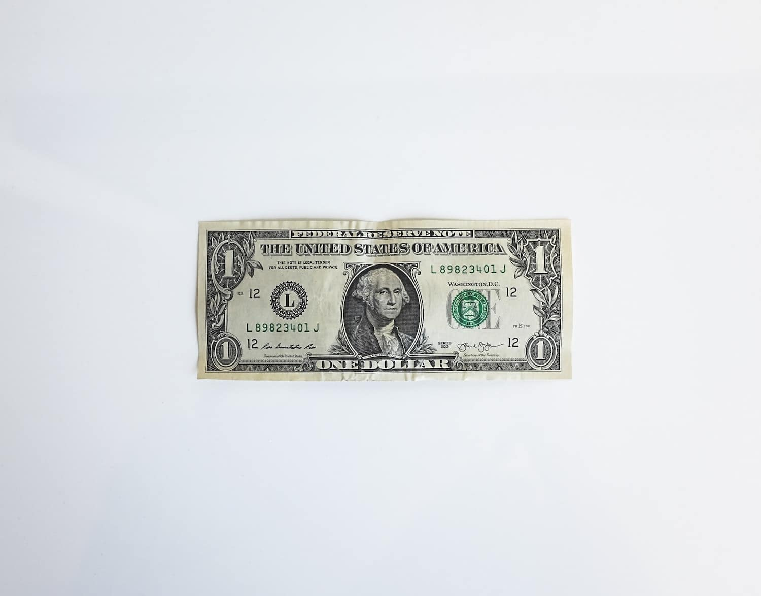 cash on white table